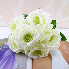 Load image into Gallery viewer, 1 Bouquet Vintage Artificial Rose Silk Flowers Bouquet for Decoration