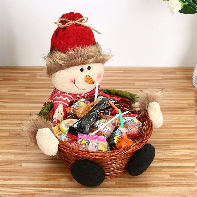 Halloween Christmas Candy Storage Basket Box Christmas Gift