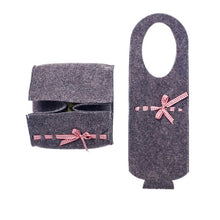 Load image into Gallery viewer, 2pcs/set Christmas Wine Bottle Cover Candy Fruit Basket Felt Champagne Bag Xmas Gift