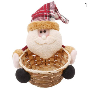 2018 New Convenient Beautiful Christmas Candy Storage Basket