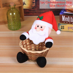 FENGRISE Christmas Candy Box Basket Santa Baby Gifts Christmas