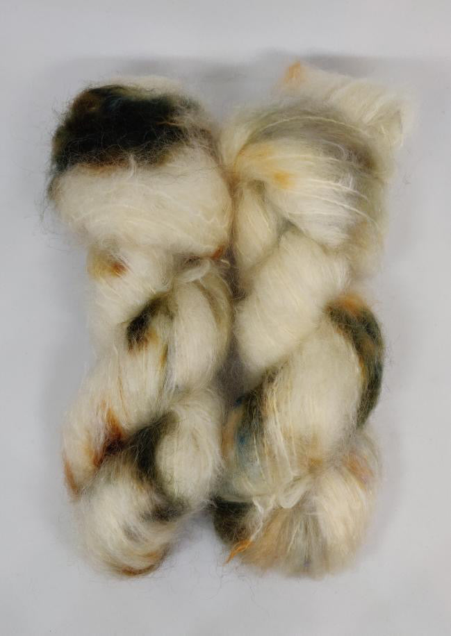 Sandwashed fat mohair -	Yarnie handdyed