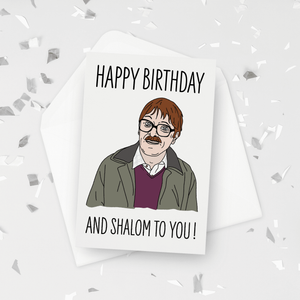 Happy Birthday and Shalom To You Jim Friday Night Dinner Birthday Card
