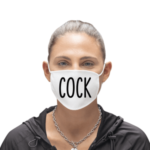Cock Funny Offensive Reusable Premium Face Mask with Filters
