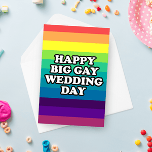 Happy Big Gay Wedding Day Card