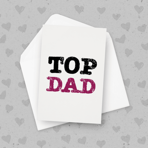 Top Dad Father's Day Card