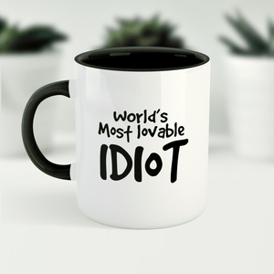World's Most Lovable Idiot Funny Ceramic Coffee Tea Mug / Cup