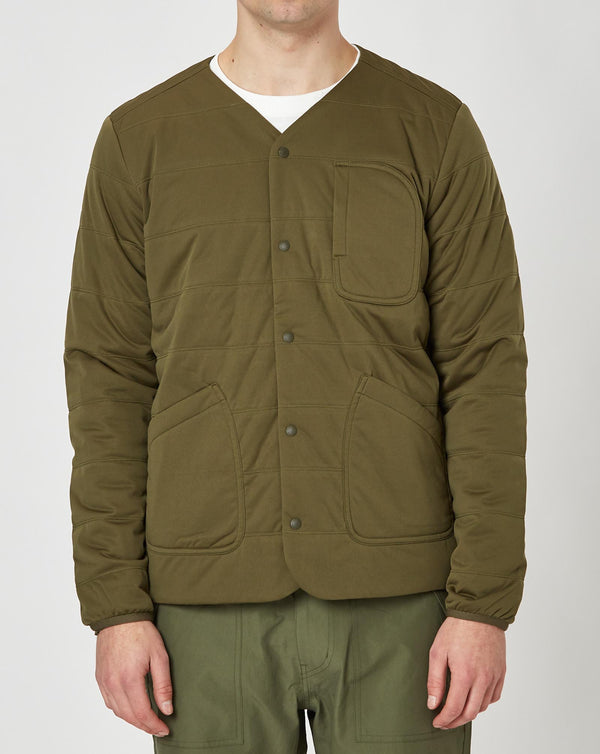 Snow Peak Flexible Insulated Cardigan (Olive)