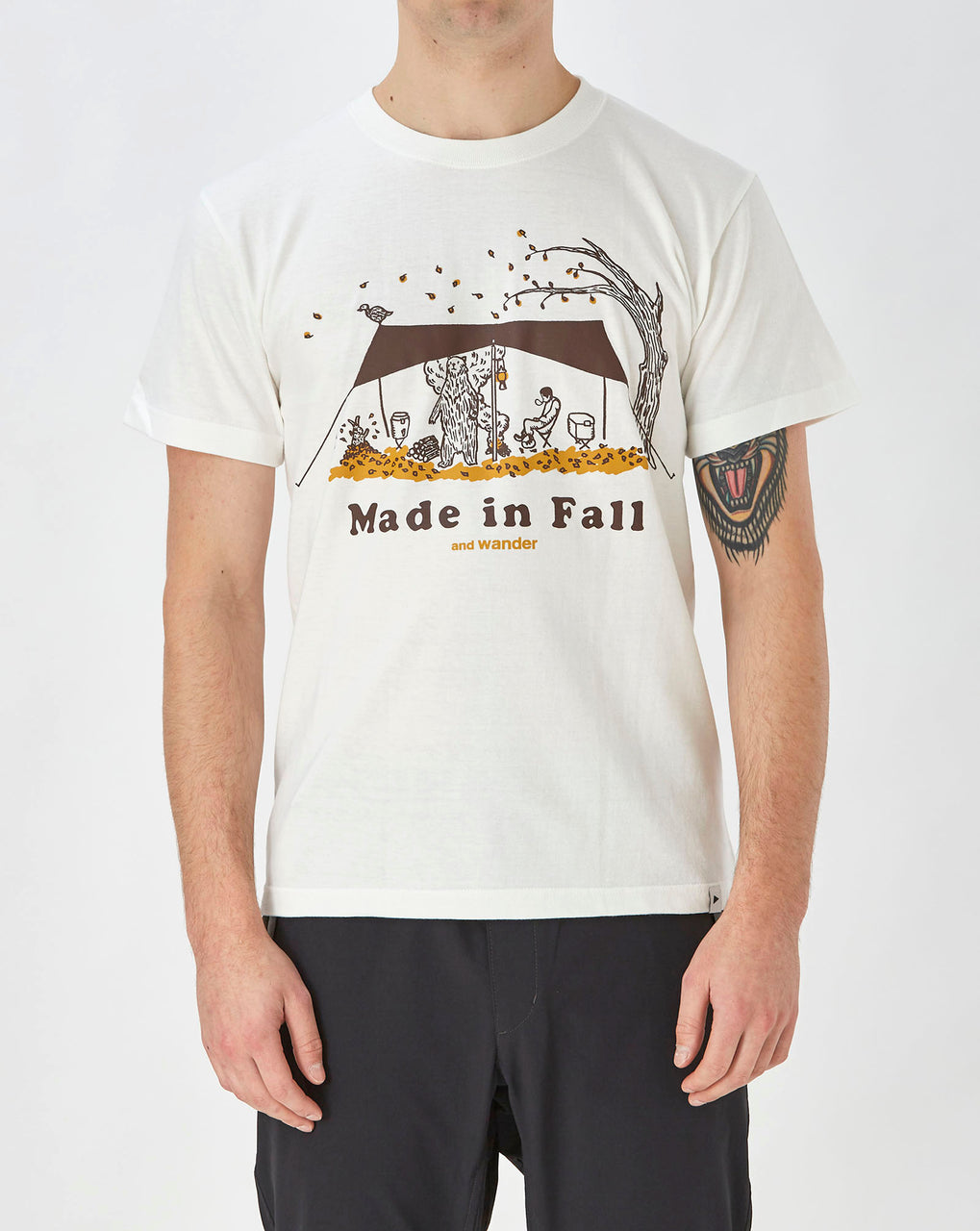 and Wander Made in Fall Print T (Off White)
