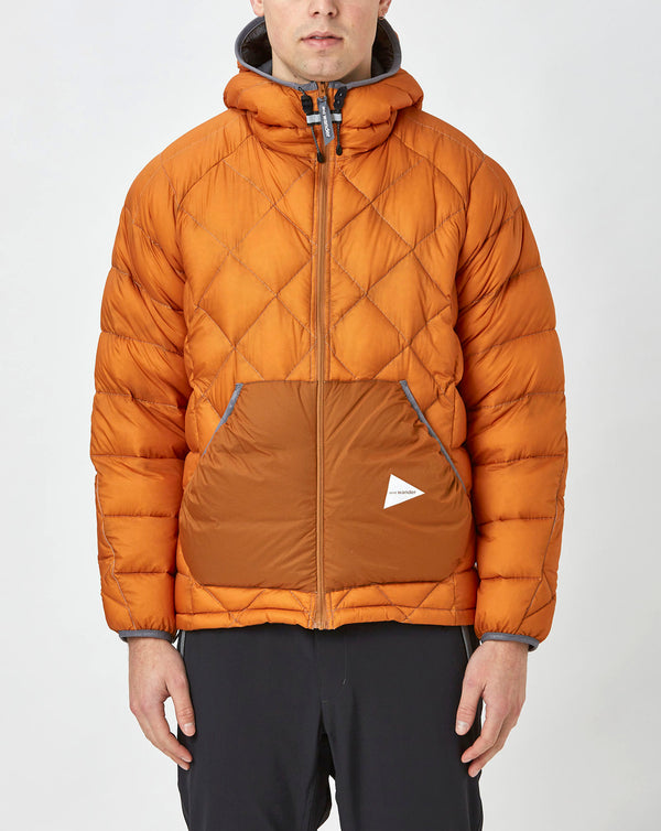 and Wander Diamond Stitch Down Jacket (Orange)
