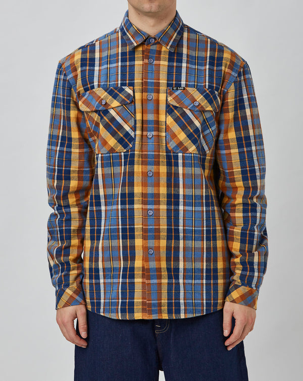 Lee x Timberland Flannel Shirt (Estate Blue)