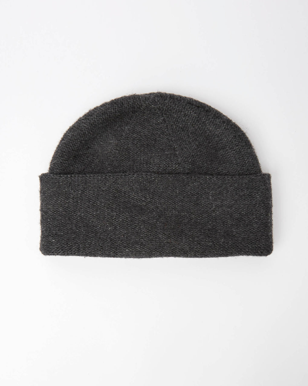 Atelier Alpinisté Model 2 Merino Double Layer Beanie (Dark Grey)