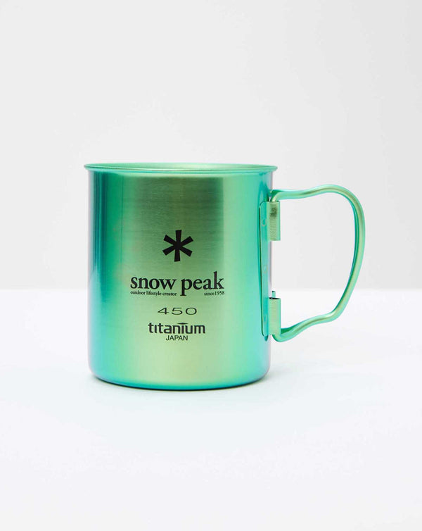 Snow Peak Titanium Single Wall Cup 450 (Green)