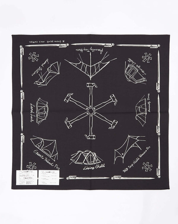 Snow Peak Cotton NOASOBI Bandana One (Black)