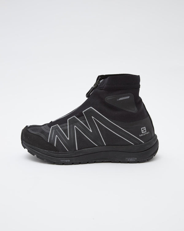 and Wander Reflective Highcut Sneakers by Salomon (Black)