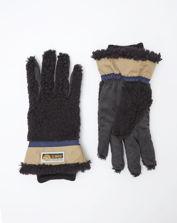 Elmer EM353 Wool Pile 5 Finger Glove (Black)