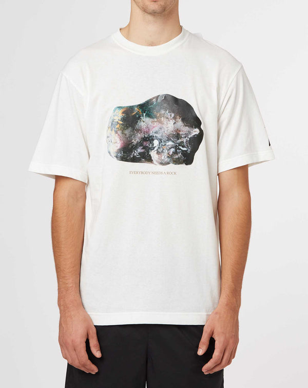 and wander Stone Print T by Sae Honda (White)