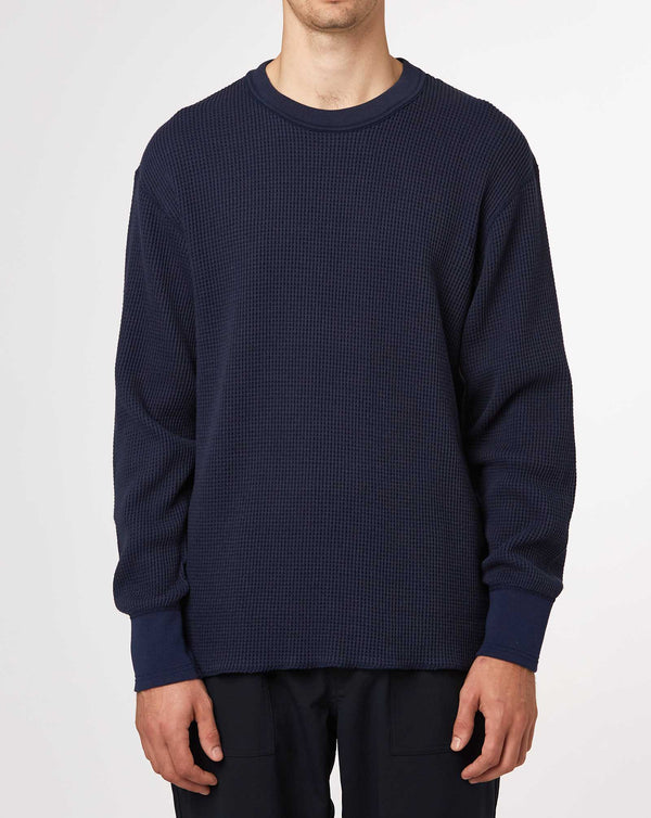 Nanamica Crew Neck L/S Thermal Tee (Navy)