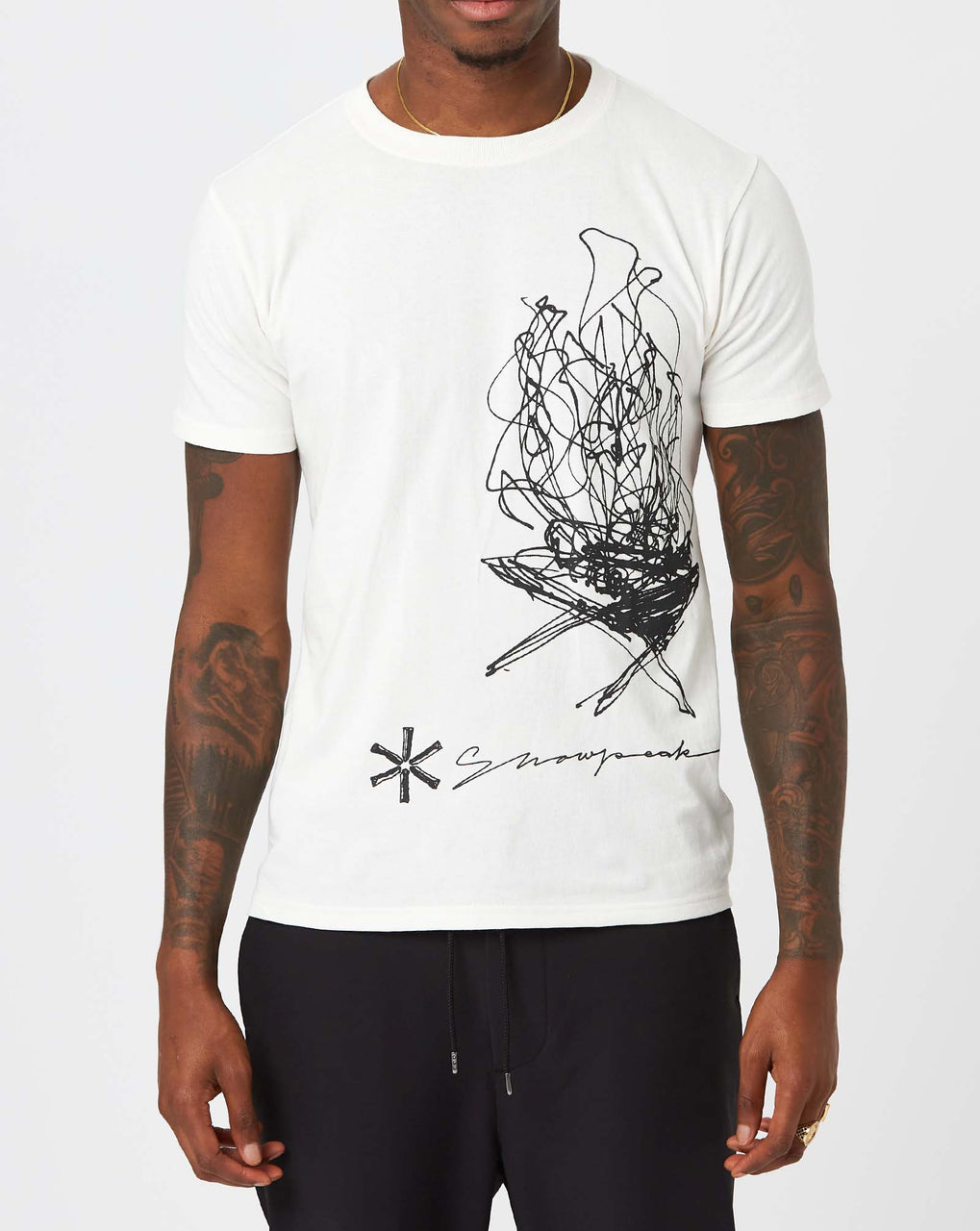 Snow Peak TAKIBI Graphic Tee (White)