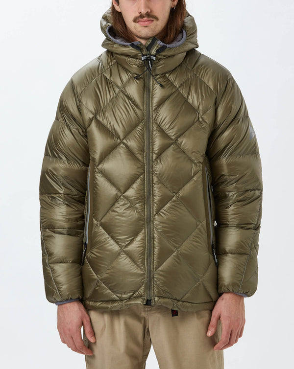 and Wander Diamond Stitch Down Hoodie (Khaki)