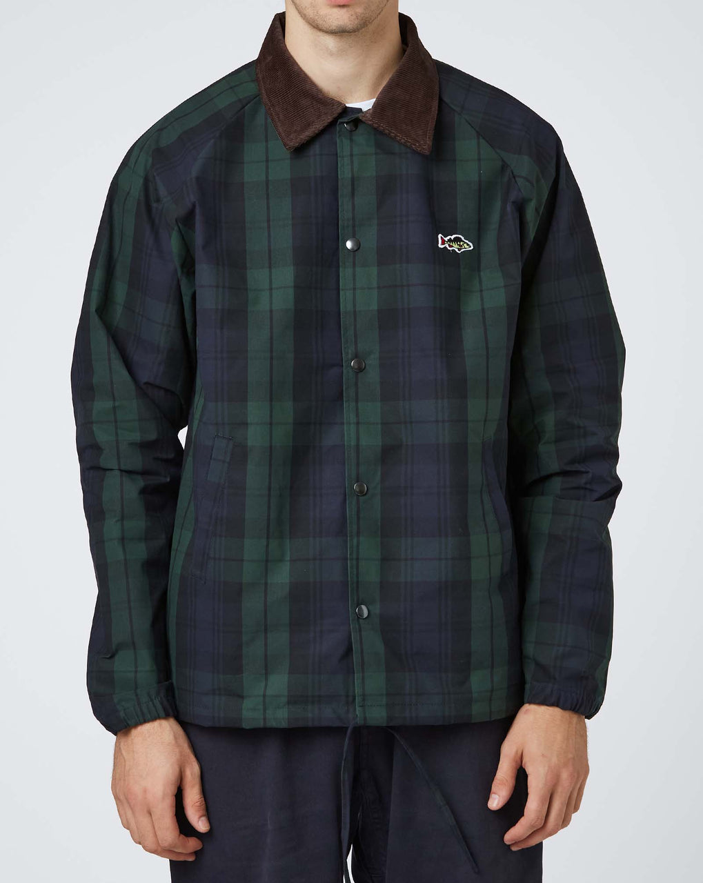 Stay Hungry Aborre Waxed Cotton Jacket (Black Watch Tartan)