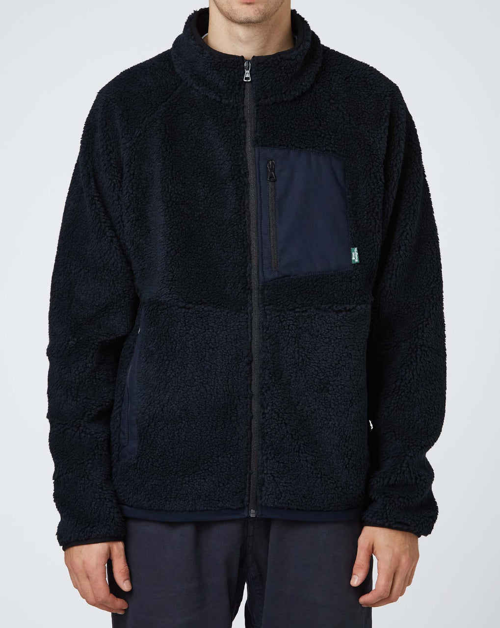 Stay Hungry Smoothie Teddy Fleece Jacket (Navy)