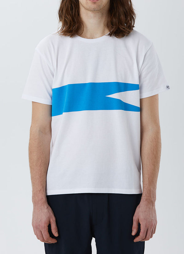 Nanamica COOLMAX Graphic Tee (White x Blue)
