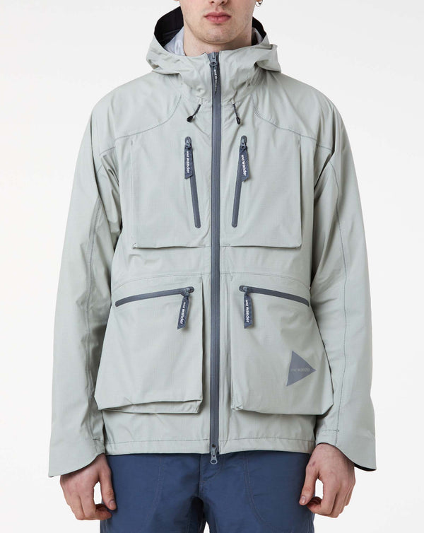 and Wander eVent Dropping Pocket Rain Jacket (Gray)