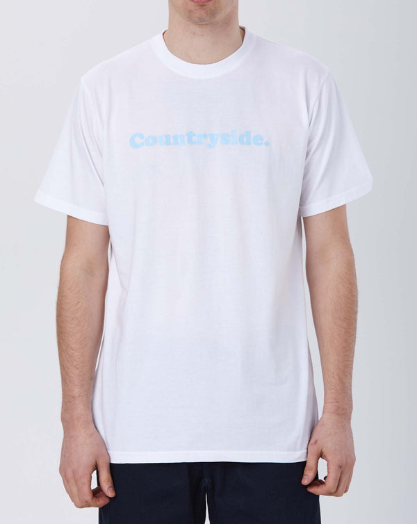 Stay Hungry Countryside T-shirt (White/ Baby Blue)