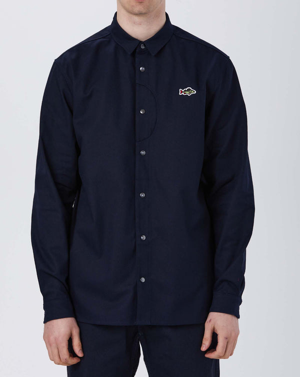 Stay Hungry ABORRE Overshirt (Navy Blue)