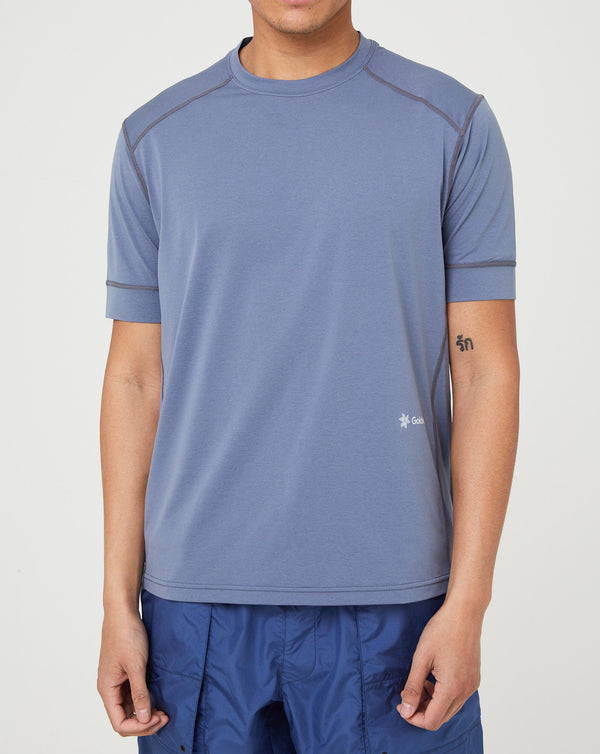 Goldwin Stetch Melange T-shirt (Graphite Navy)