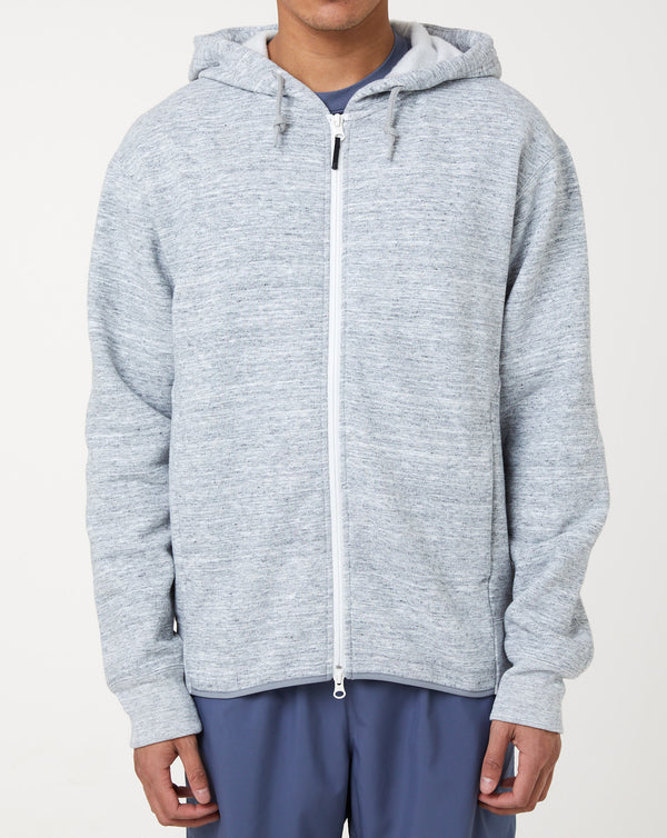 Goldwin Front Zip Hoodie (Heather Grey)
