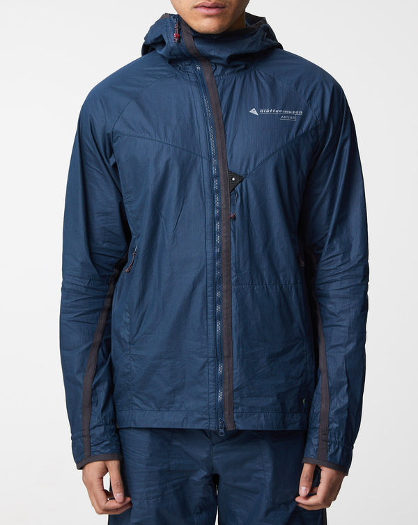 Klattermusen Ansur Hooded Wind Jacket (Midnight Blue)