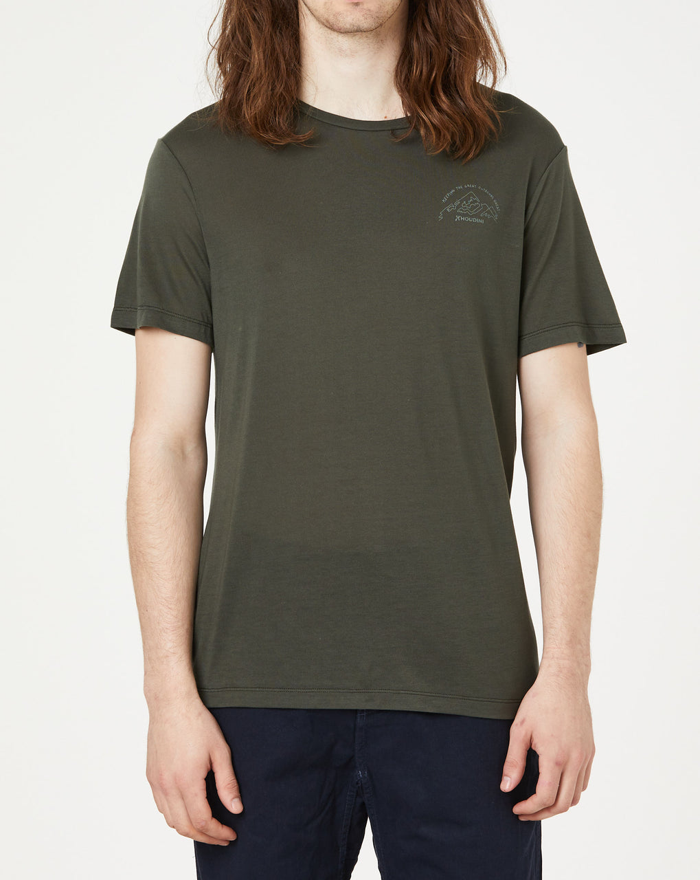 Houdini M's Tree Message Tee (Willow Green)