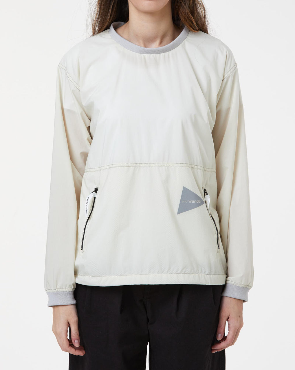 and Wander Pertex Wind Long Sleeve T (Off White)