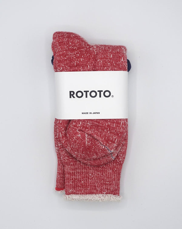 RoToTo Double Face Socks (Red)