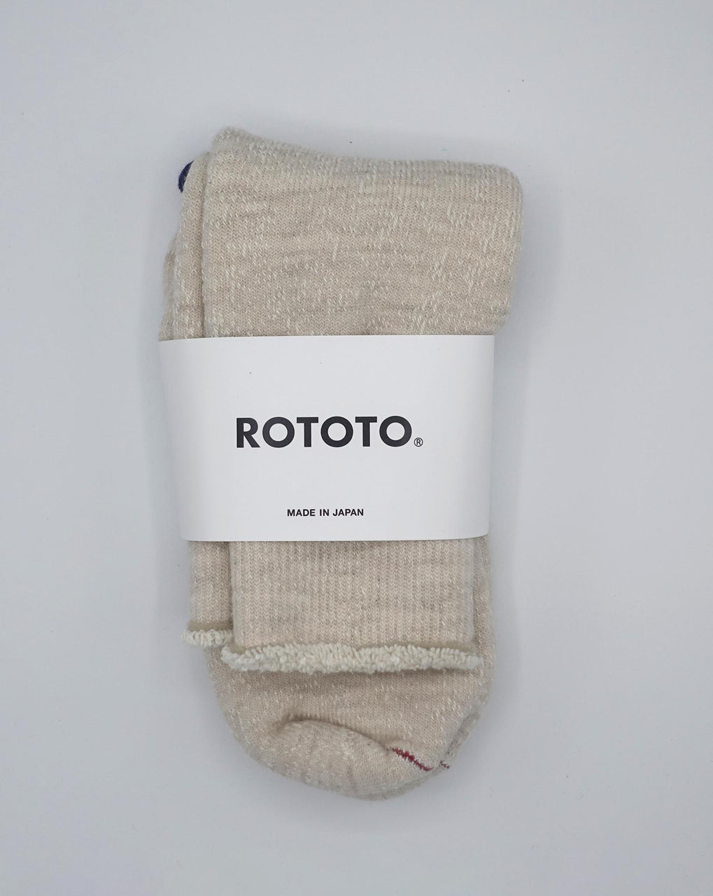 RoToTo Double Face Socks (Oatmeal)