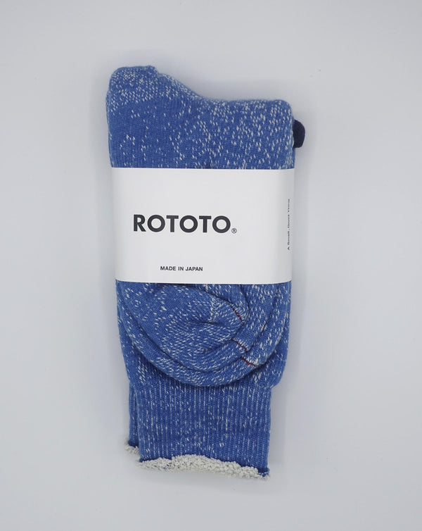 RoToTo Double Face Socks (Blue)
