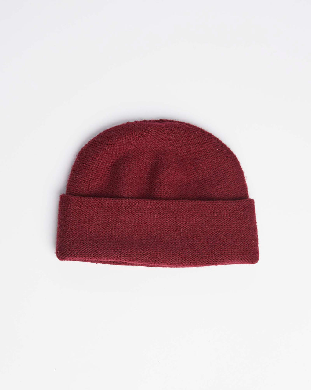 Atelier Alpinisté Model 2 Merino Double Layer Beanie (Dark Red)