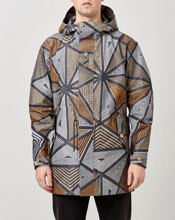 Snow Peak Printed eVent C/N Rain Jacket (Khaki)