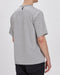 Goldwin Border Crew Neck Short Sleeve Top (Heather Grey)
