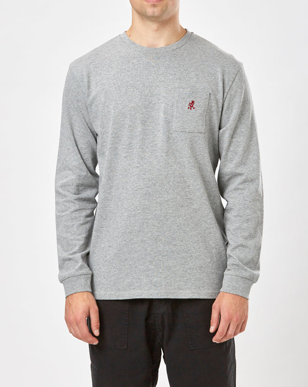 Gramicci One Point L/S Tee (Heather Grey)