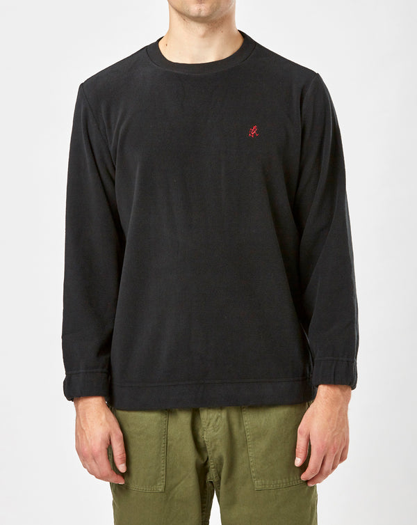 Gramicci Fleece Crew Neck (Black)