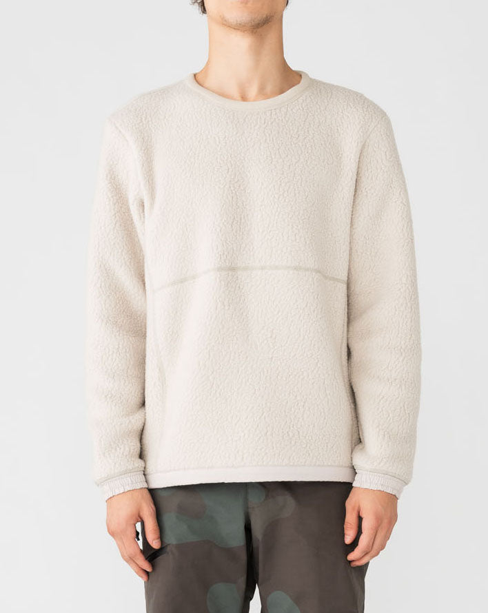 Holden M's Shearling Crew Sweater (Canvas)