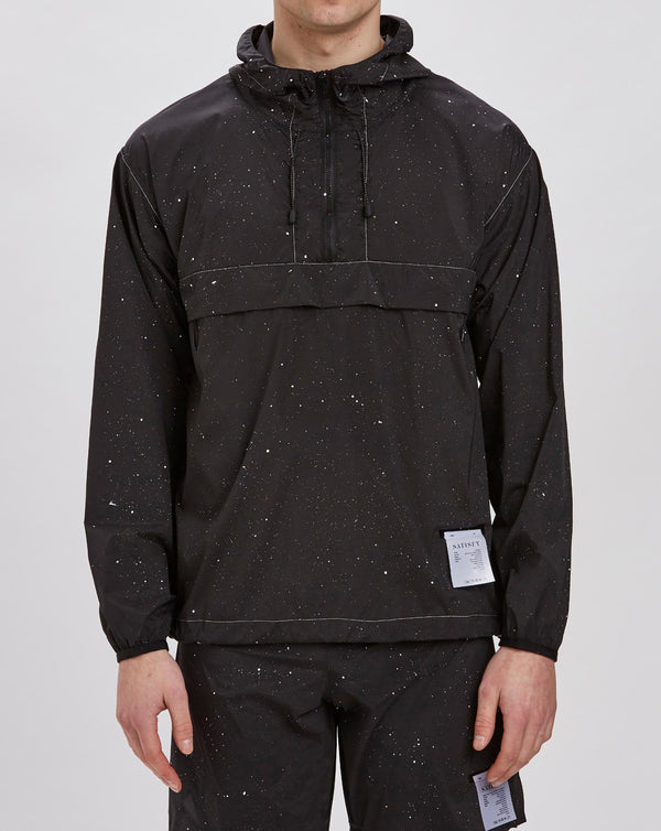 Satisfy Anorak (Black Silk Splattered)