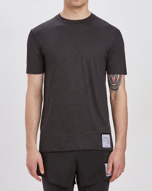 Satisfy Cloud Merino T-shirt (Black Wash)