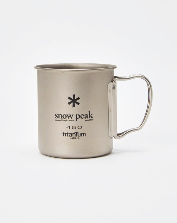 Snow Peak Titanium Single Wall Cup 450 (Titanium)