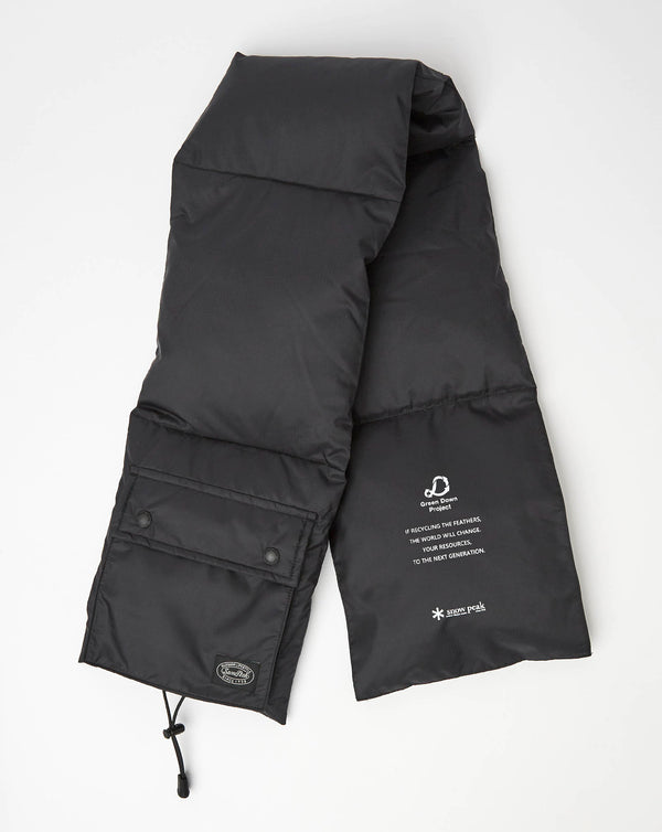 Snow Peak Recycled Down Stole (Black)