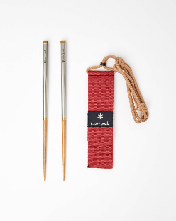 Snow Peak Wabuki Chopsticks (Red/Silver)