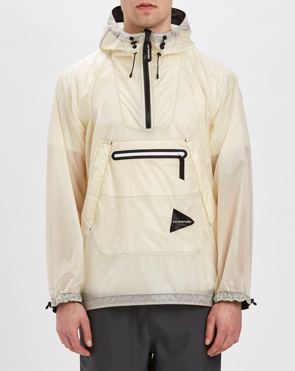 and Wander Fly Rain Anorak Hoodie (Off White)